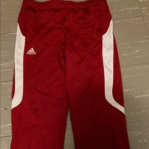 A adidas red/white track pants